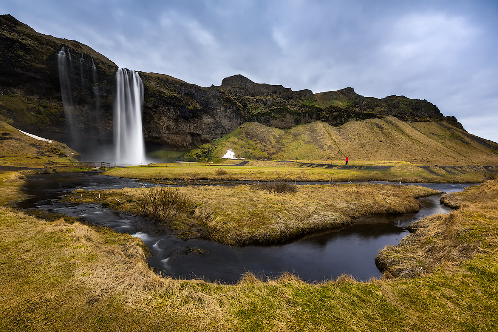 Alone in Seljalandsfoss